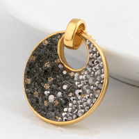 18K Gold Plated Stainless Steel Brand Austria Crystal Pendants Nickel Free Fashion Necklace Jewelry For Women