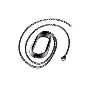 Image 5 - Mi עבודות עבור שיאו mi Band 3 גרסה מתכת מקרה שרשרת קישוט mi Band 3 תליון מגן כיסוי אבזרים