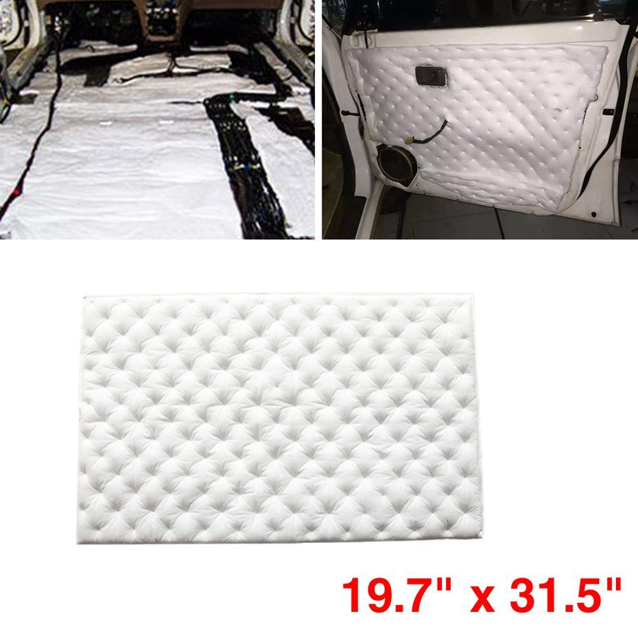 uxcell 236mil 6mm Audio Stereo Sound Acoustic Noise Absorbing Dampening Mat 19.7x31.5