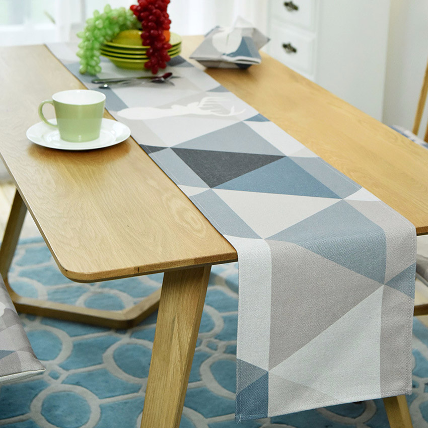 US $8.49 30% OFF|Geometric Table Runner Dining Table Mat Cartoon Rabbit Cat  Non slip Coffee Table Pads Placemat Home Decor Hotel camino de mesa-in ...