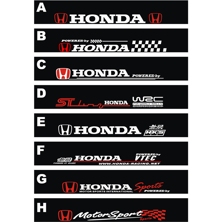 Free Shipping Automobile Label Car Stickers For HONDA Front - Front window stickers for car