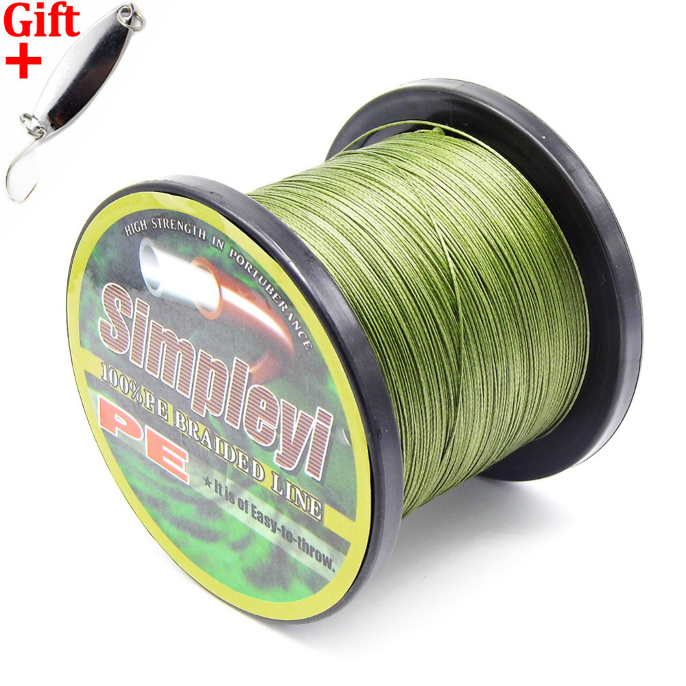 Simpleyi Lure As Gift 1000m 8 Strands X8 Line Multifilament Pe Braided Fishing Line Carp Rope