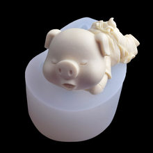 Grand mignon salive cochon Silicone moule cochon Mousse gâteau moule bricolage ustensiles de cuisson bricolage époxy moule gâteau outils K135