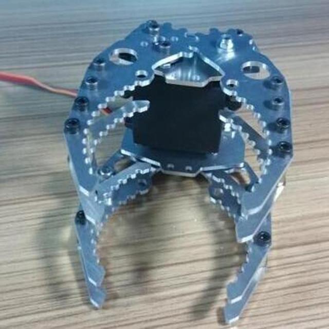 Full Metal Robótico Garra/Garra/Garra Robô Mecânico/Compatível com M G996-R/Para Robot DIY/tanque/Carro