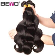 Beyo Hair Brazilian Body Wave Hair Weave Bundles 10-28 Inch 100% Human Hair Bundles 1 Piece Non-Remy Natural Color Free Shipping