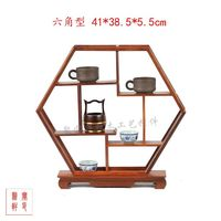 Classical furniture of annatto Chinese arts and crafts solid wood antique carved wooden furnishing articles modern display case