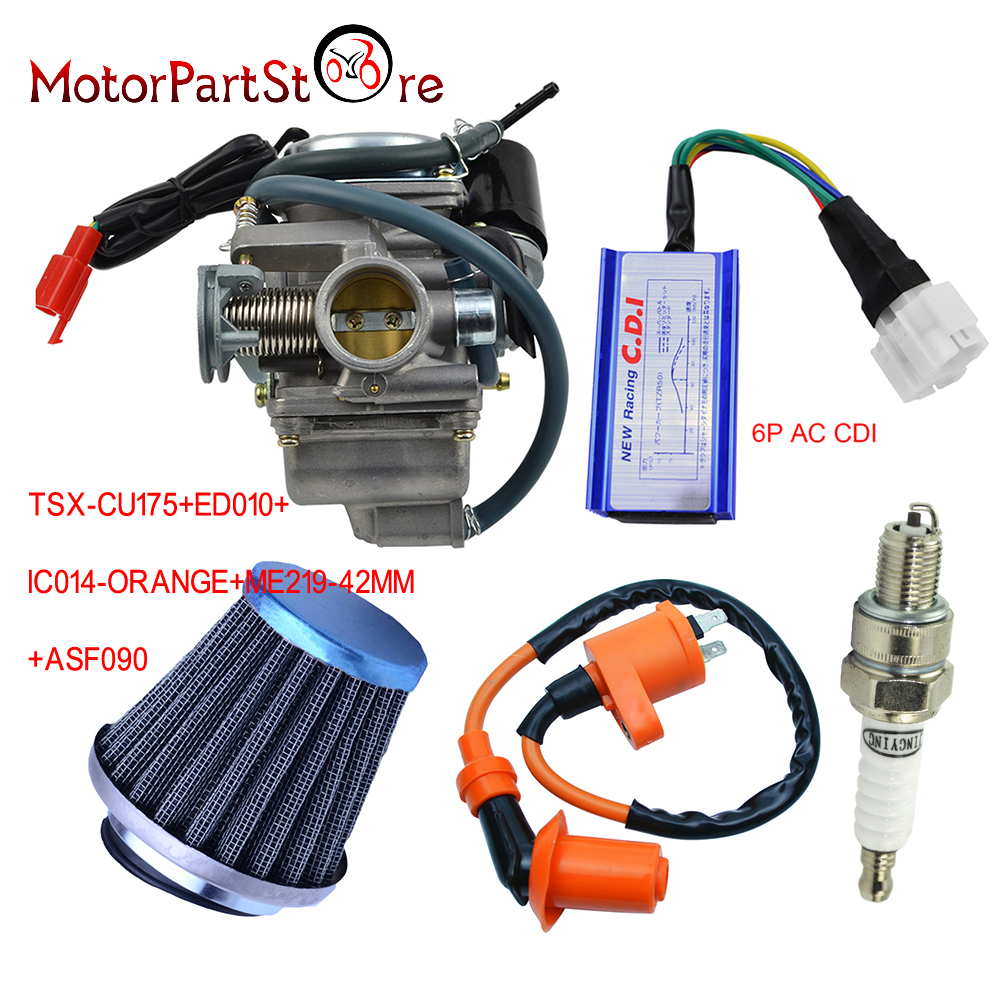 24mm Carburetor For Gy6 150cc With Racing Ac Cdi Ignition