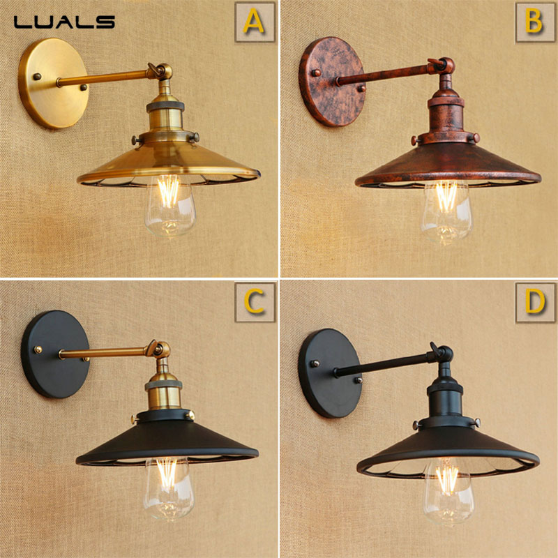 Loft Retro Wall Light Wall Lamp Originality Industrial Wall Lights For Cafe Bar Iron Art Edison wall Mounted Swing Arm Lights loft vintage edison glass light ceiling lamp cafe dining bar club aisle t300