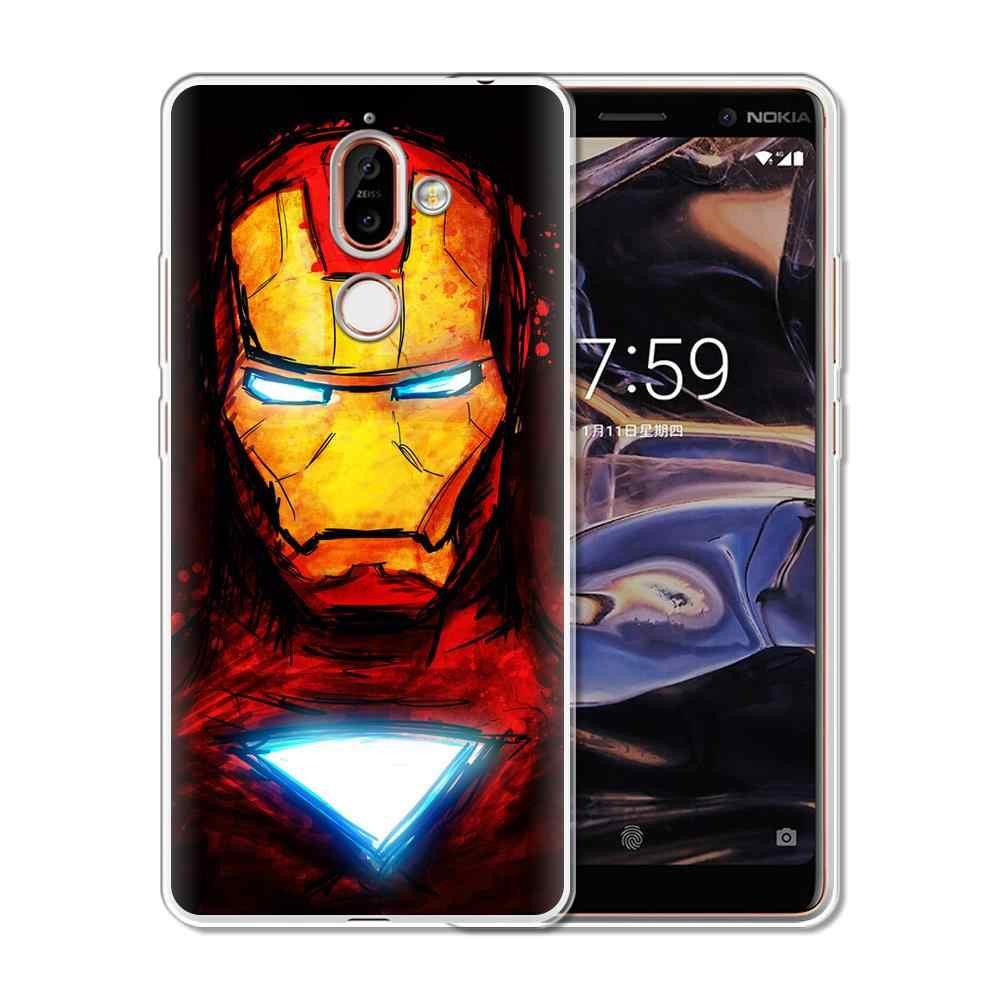 كول لينة غطاء من السيليكون لنوكيا 1 2 3 5 6 7 Plus 8 2017 Nokia3 جراب هاتف غطاء لعلامة نوكيا 6 2018 2.1 3.1 5.1 6.1 7.1 Plus
