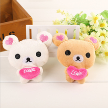 Bear Love Wedding Gift Plush Toy , 10CM Approx. 2 Colors - Cute Stuffed TOY Key Chain Doll