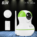 BW IP Camera P2P Smart HD 720P Wireless Wifi + Motion Sensor + Smoke Detector Alarm Rotatable Video Surveillance Security CCTV