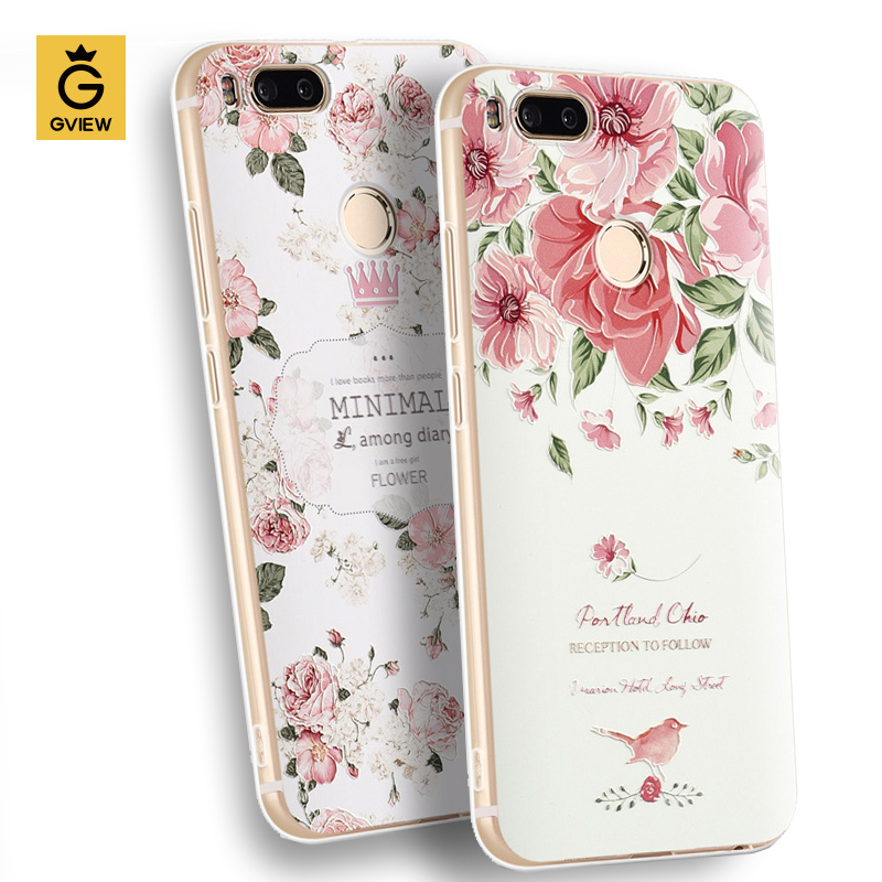 Gview High Quality 3D Relief Print Soft TPU Back Cover Case For xiaomi Mi A1 / mi 5x 5.5 inch Phone Bag Luxury Fundas For Mi 5X