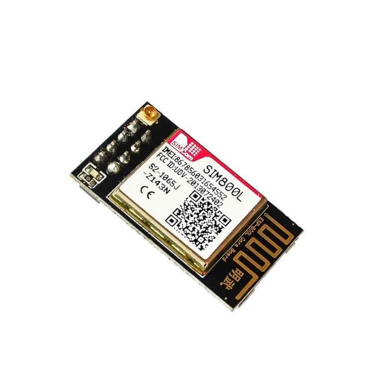 Più piccolo SIM800L GPRS GSM Corredo del Modulo di Bordo di Centro di Carta di MicroSIM Quad-band TTL Porta Seriale con l'antenna per arduino