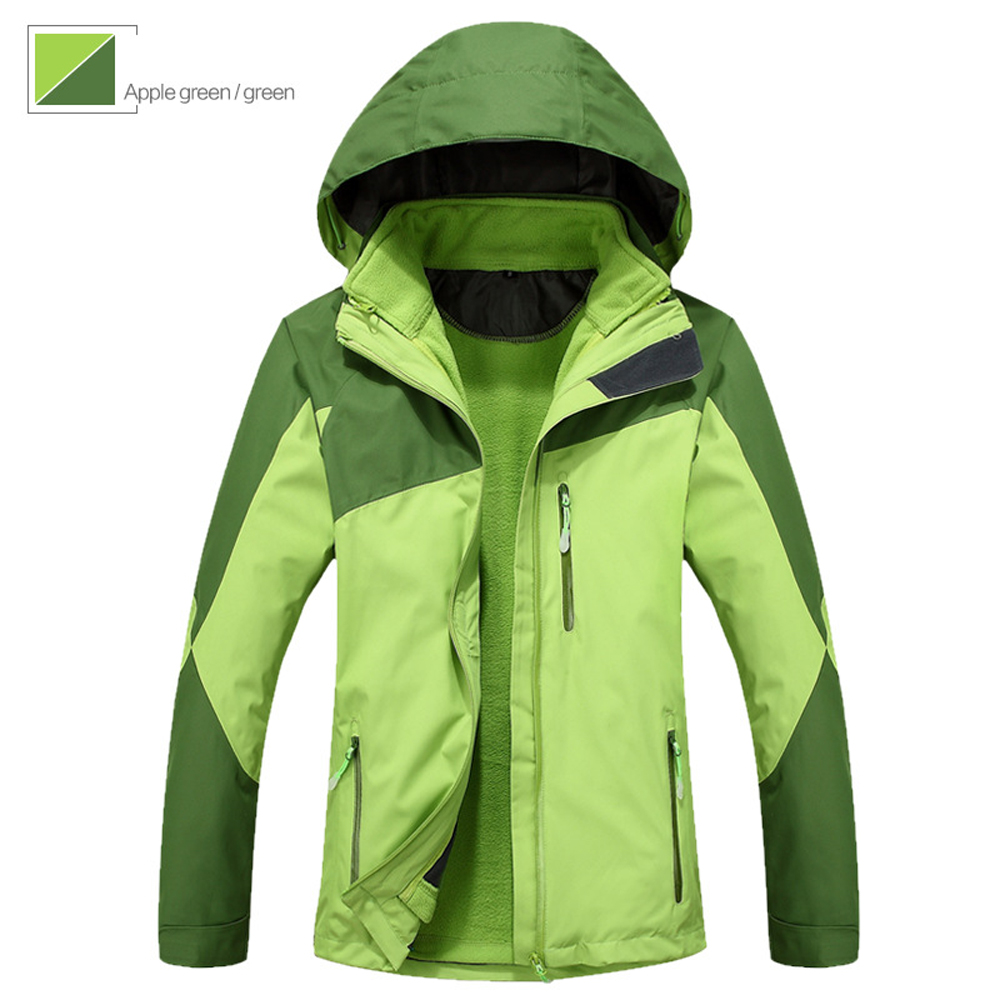 Women 2 in 1 Thermal Jacket winter Outdoor Jaqueta Camping Sports Coat hiking Tourism Mountain Jackets Waterproof Windproof foundations of systems biology