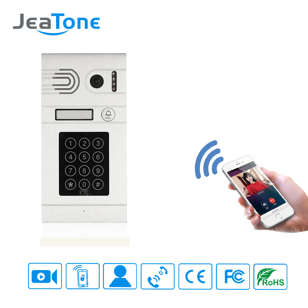 jeatone classic silver video door bell smarter passwords and credit card and wifi unlock control. Black Bedroom Furniture Sets. Home Design Ideas