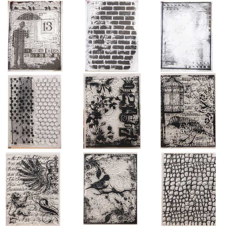 9 design Retro Clear Silicone Stamp/Seal for DIY scrapbooking/photo album Decorative clear stamp sheets A128 lovely animals and ballon design transparent clear silicone stamp for diy scrapbooking photo album clear stamp cl 278