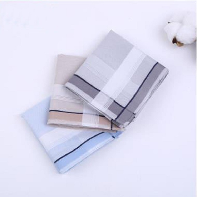 12pcs Mens  Handkerchiefs 100% Cotton Square Super Soft Washable Hanky Chest Towel Pocket Square 43 x 43cm