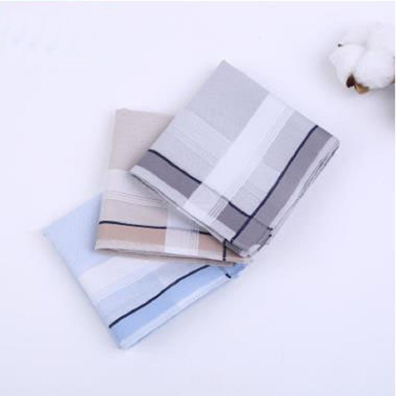 Freeshipping 12pcs 43*43cm New 100% Cotton Handkerchiefs Business Men Handkerchief