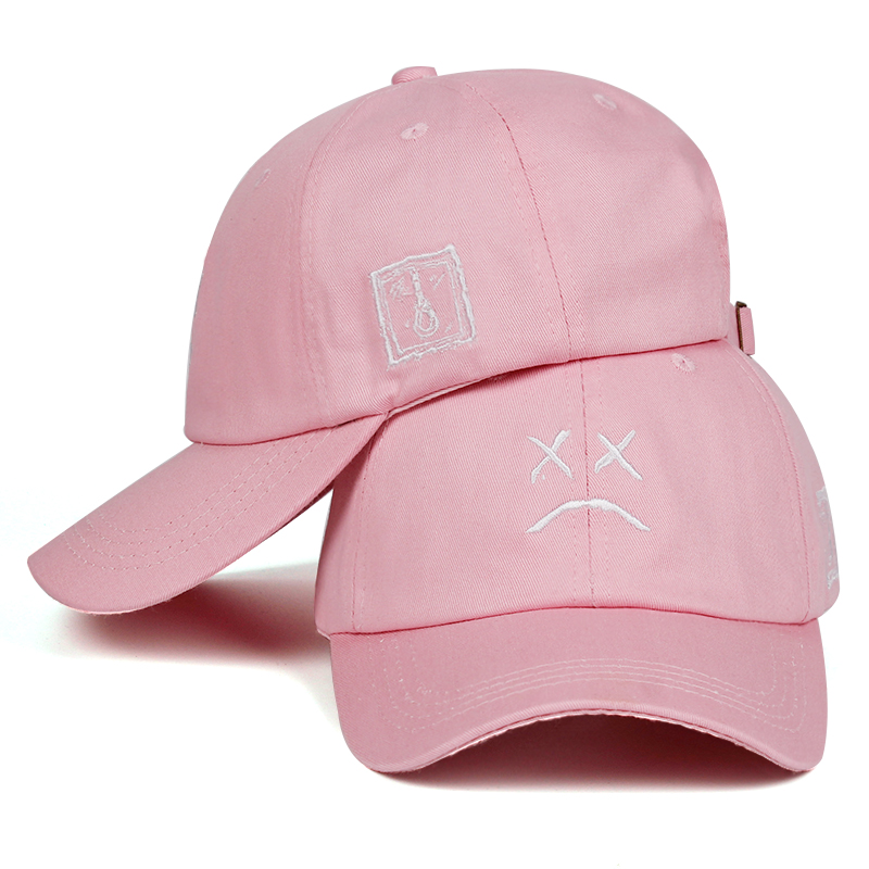 Lil Peep Dad Hat Embroidery 100% Cotton Baseball Cap Sad face Hat xxxtentacion Hip Hop Cap Golf Love lil.peep Snapback Women Men 5
