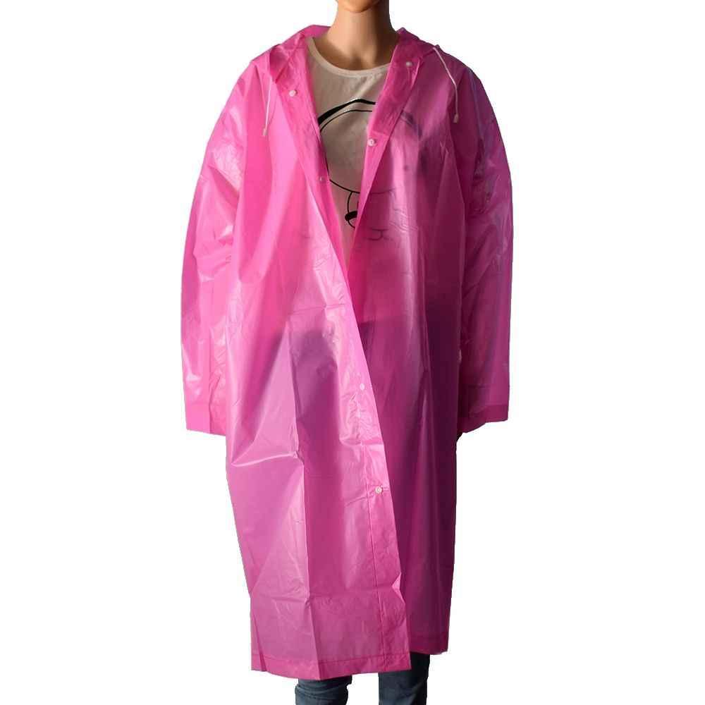 1 шт. дождевик с длинными рукавами унисекс непромокаемый костюм Водонепроницаемая ветровка дождевики походная одежда для дождливой погоды куртка пончо с капюшоном