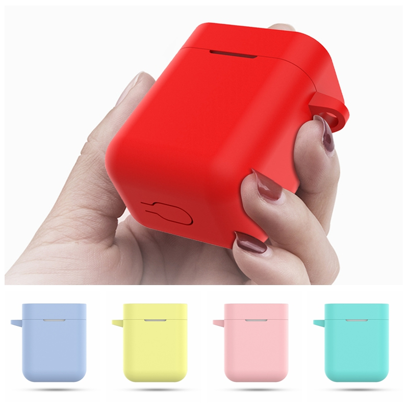 For Xiaomi Mi Airdots Silicone Shockproof Earphone Protective Cover For Airdots Bluetooth Headphone Case Headset Accessories