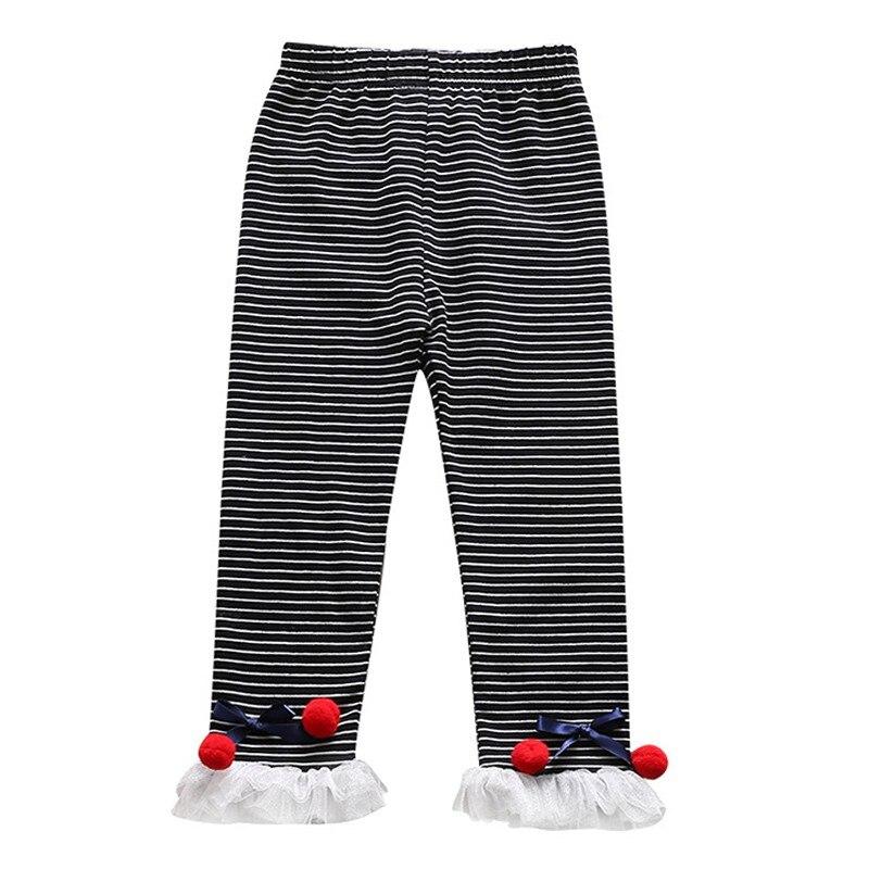 Детские леггинсы для девочек бант для новорожденного кружева детские милые эластичные теплые брюки принцессы - Цвет: B
