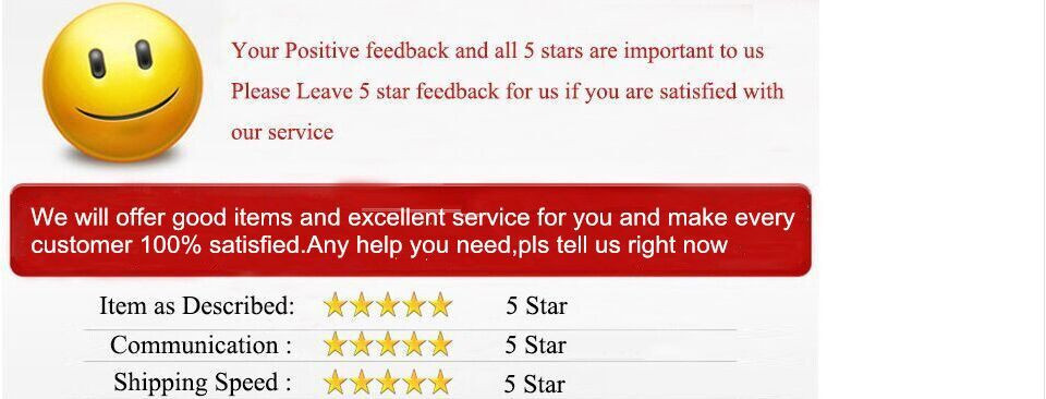 5 star good feedback