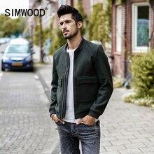 Simwood 2020 primavera marca roupas jaqueta masculina moda casual fino ajuste outerwear jaquetas masculino jk017015