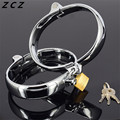 ZCZ Inner diameter 71mm * 91mm,width 20mm Stainless Steel Handcuffs and Feet cuffs Metal Sex Toys Locked Fun Sexy Products WQ767
