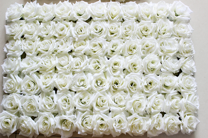 Free shipping by ems 6040cm white artificial silk rose flower wall free shipping by ems 6040cm white artificial silk rose flower wall wedding background lawnpillar flower home market decoration in artificial dried mightylinksfo