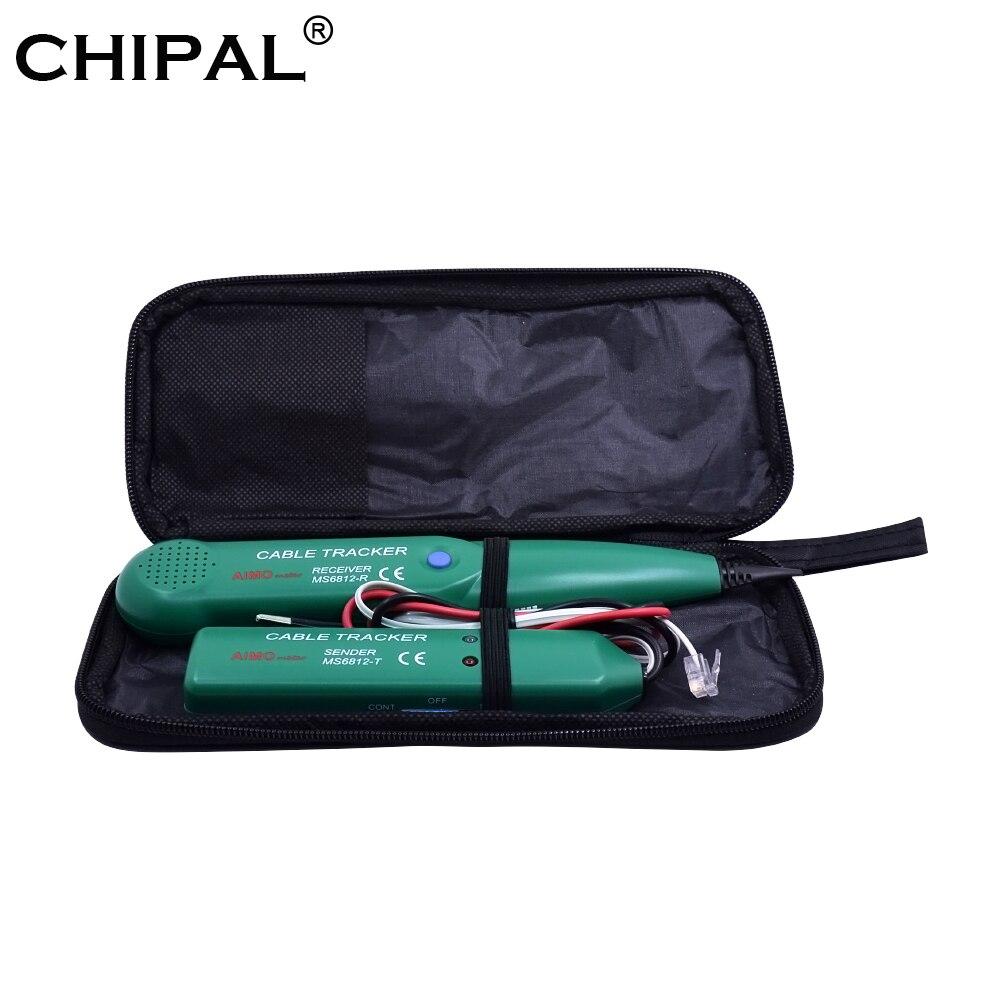 Testeur de câble CHIPAL AIMO MS6812 pour UTP STP Cat5 Cat5E Cat6 Cat6E RJ45 réseau LAN RJ11 traqueur de fil téléphonique diagnostiquer le ton
