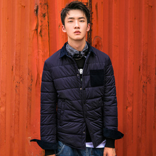 gxg jeans men's winter men's HID mosaics, warm fashion, warm fashion and leisure cotton clothes #54607351(China)