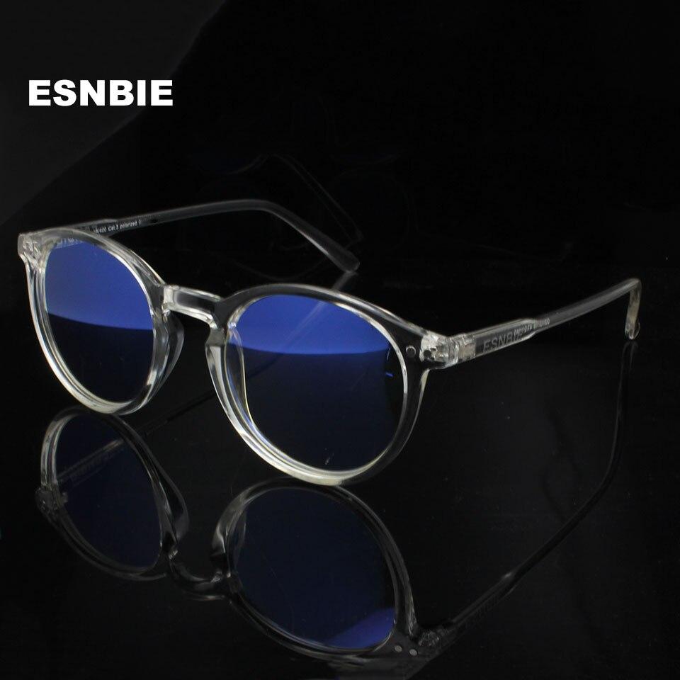 ESNBIE Herren Vintage Runde Brille Rahmen Anti Blue Ray Computer ...