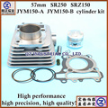 high performance good quality for YAMAHA motorcycle engine parts 57mm SR250 SRZ150 JYM150-A JYM150-B cylinder kit