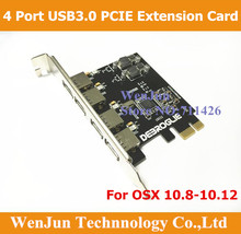 1 PCS จัดส่งฟรี Super   Speed Mac Pro USB 3.0 PCI E 4 พอร์ตการ์ดสำหรับ MAC OSX 10.8 10.14 ขึ้นไป