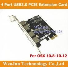 1 pièces livraison gratuite Super vitesse Mac Pro USB 3.0 PCI E 4 ports carte dextension pour MAC OSX 10.8 10.14 et plus tard