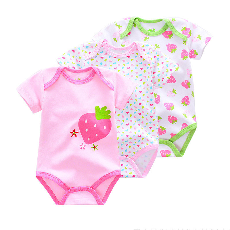 3pcs Rompers Newbon Baby Girl Clothing Summer Baby Boy Clothes Newborn Baby Clothes Set Roupas Bebe Cotton Infant body Jumpsuits
