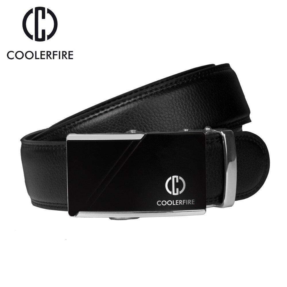 2017 Famous Brand Men   Belts   Luxury Automatic Buckle Cowskin Genuine Leather   Belt   for Men Business Black Waist Male Strap ZD052