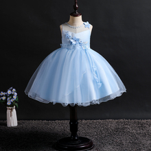 NEW dress girl wedding kids girls princess sleeveless Wedding presiding Stage performance