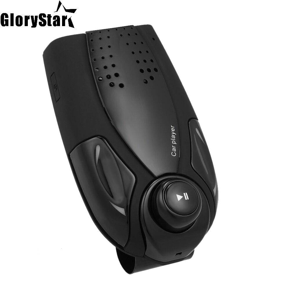BT69 BT Player 4.0 Version Hands-free Call MP3 Player In-car TF Card Slot FM Radio LED Screen 1000mAh Sun Visor BT Car Kit