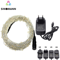 30m 300 LED Outdoor Christmas Fairy Lights Copper Wire LED String Lights Starry Light+Power Adapter(UK,US,EU,AU Plug)