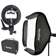Godox 80 x 80 cm estúdio de fotografia Softbox difusor + S – tipo Bracket Bowens Mount Holder para Flash Light