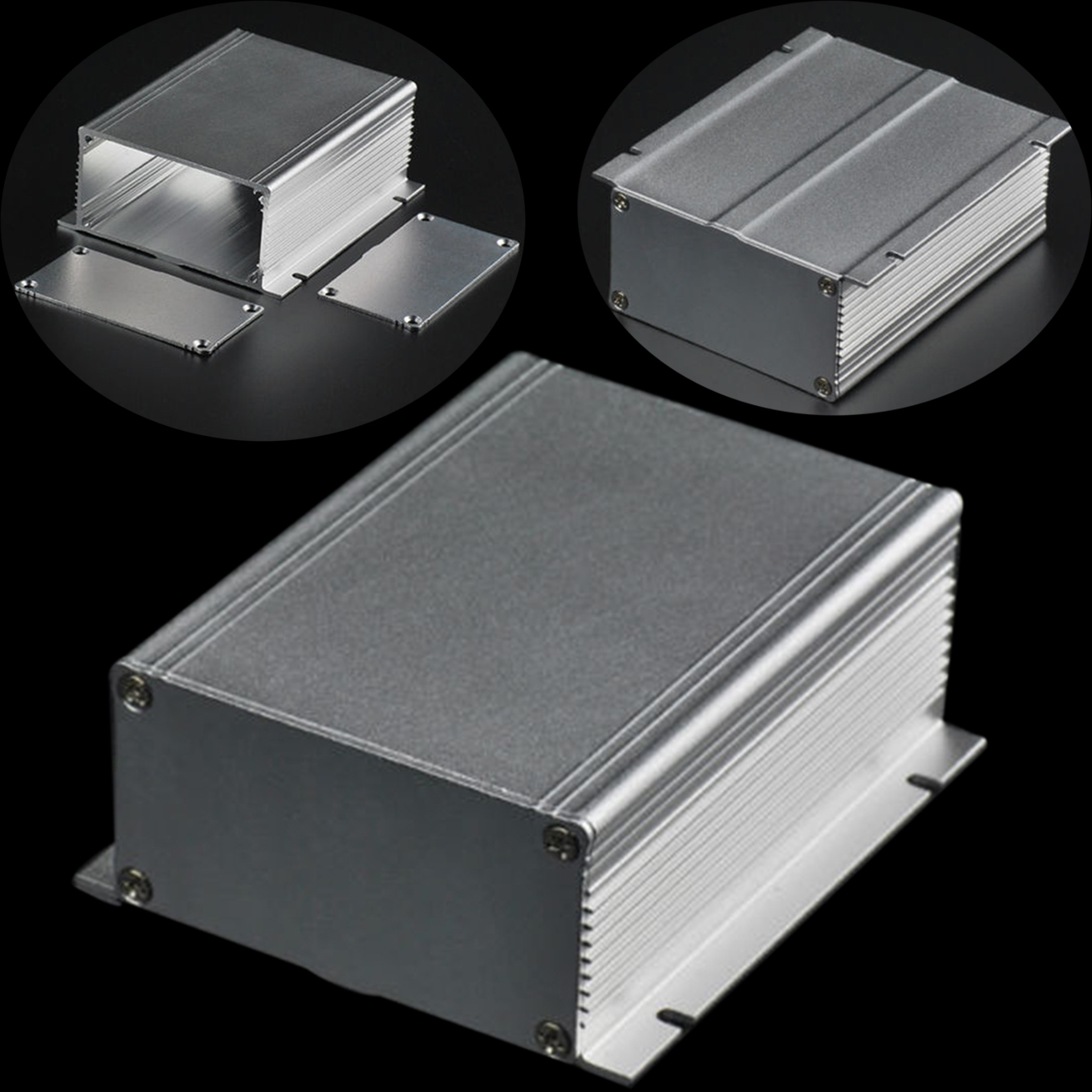 1pc Silver Extruded Aluminum Enclosure Electronic Power PCB Instrument Box Case 88x39x100mm 1 piece free shipping aluminum amplifier case extruded aluminum box projects 96x33x140 mm aluminium profile