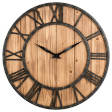 hot deal buy round retro solid wood metal wall clock america  style solid wood home decoration antique klok home decoration watches