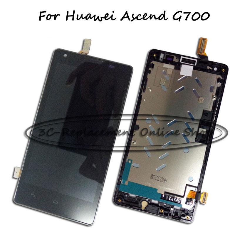 Prix pour Noir LCD + TP + Cadre Pour Huawei Ascend G700 LCD Affichage avec Écran Tactile Digitizer Remplacement Smartphone Suivi De Commande