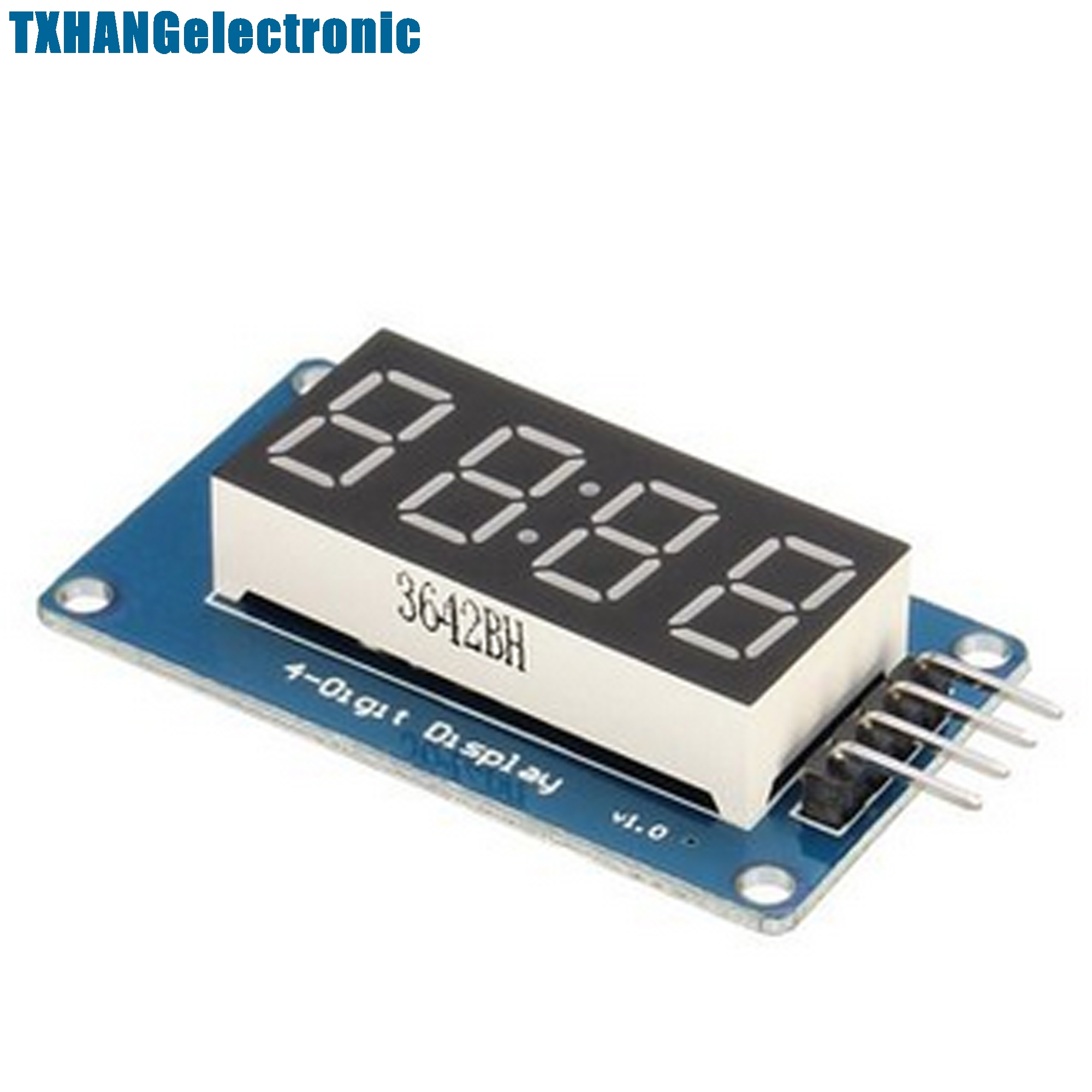 2 шт. 4 биты цифровой LED Дисплей tm1637 модуль с часами Дисплей