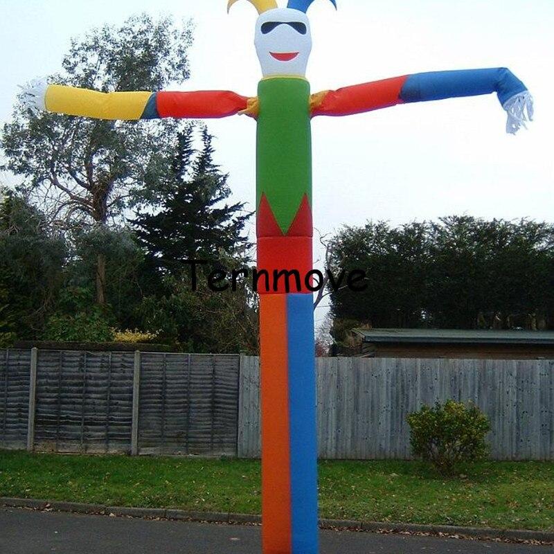 Danseur gonflable de clown/costumes homme de ciel pour la publicité danseur de ciel, tube simple d'air, homme ondulant de vent