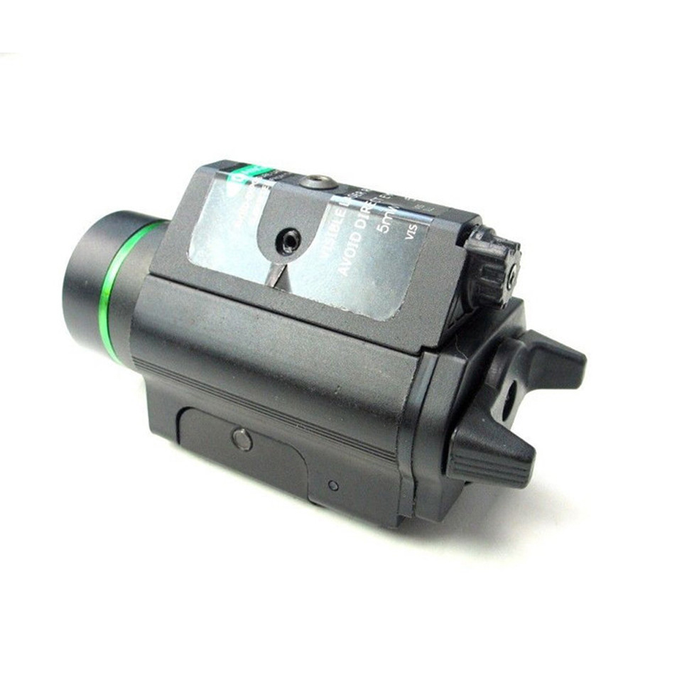 Tactical Green Laser Sight with LED Flashlight 2 in 1 Combo 20mm Mount Ultra Bright 225 lumen for Glock 17 Hunting-3