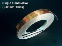 0 08mm Thick 95mm 30M Single Face Adhered Electric Conduction Copper Foil Electromagnetic Wave Shield