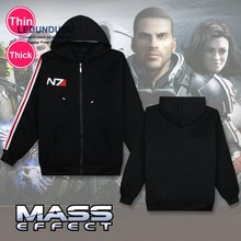 RPG Game Mass Effect 3 N7 Coat Cosplay Costumes Men Jacket / Sweatshirt Fancy Unisex Hoodies for Winter Spring Outfit Plus size